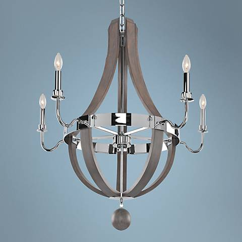"Sharlow Charcoal 31 1/2"" Wide 5-Light Chandelier"