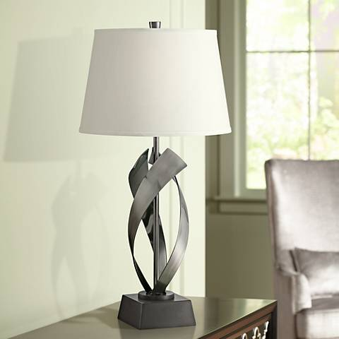 Lite Source Wayde Gunmetal Modern Table Lamp