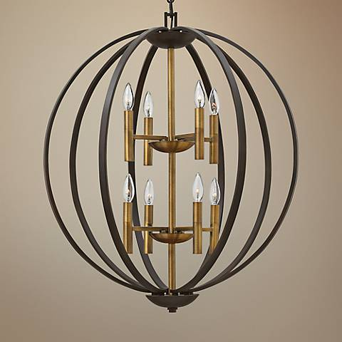 "Hinkley Euclid 28 1/4"" Wide Spanish Bronze 8-Light Pendant"
