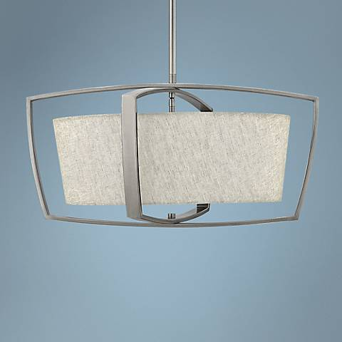 "Hinkley Blakely 24"" Wide Brushed Nickel 4-Light Pendant"