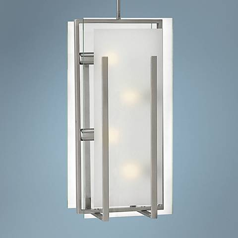 "Fredrick Ramond Latitude 12"" Wide Nickel Mini Pendant"