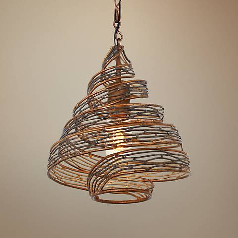 "Varaluz Flow 10"" Wide Hammered Ore Mini Pendant Light"