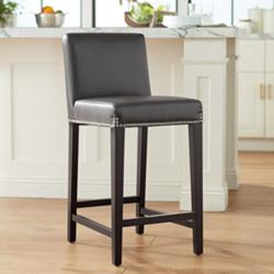 "Brooke 25 1/2"" Gray Bonded Leather Counter Stool"