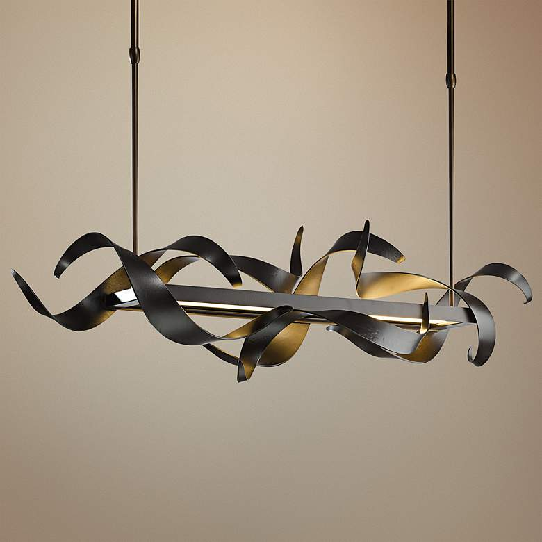 "Hubbardton Forge Folio 38""W LED Kitchen Island Light Pendant"