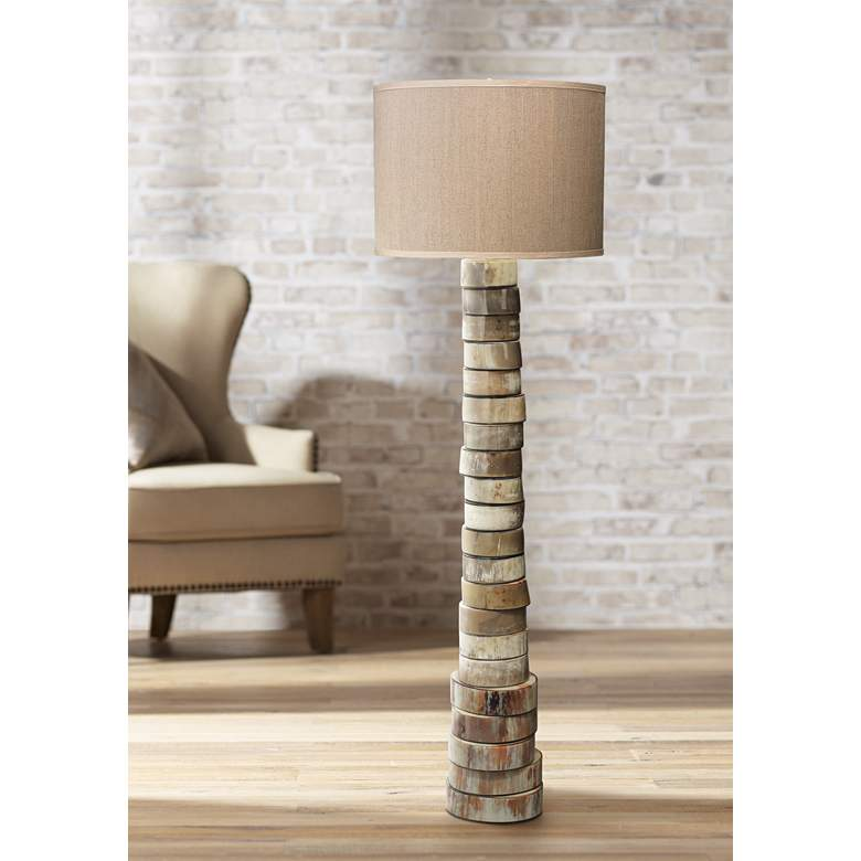 Jamie Young Stacked Animal Horn Floor Lamp