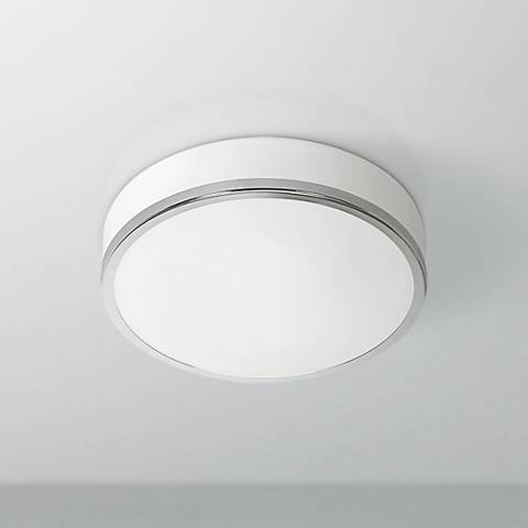 "Aero 10"" Wide Chrome Ceiling Light"