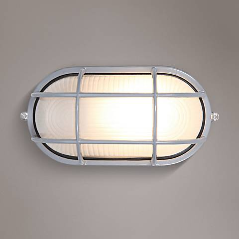 "Nauticus 4 1/4"" High Satin Outdoor Wall Light"