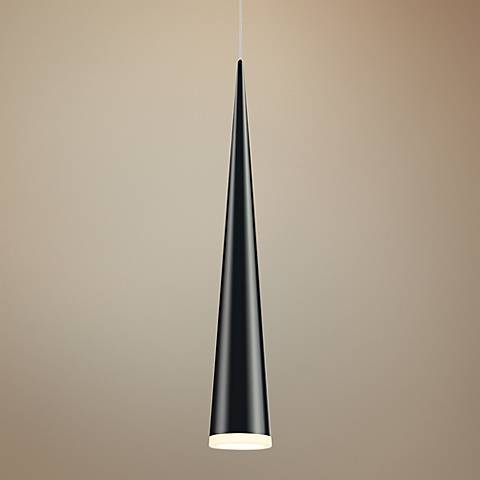 "Sonneman Micro Cone 1 3/4"" Wide Satin Black LED Mini Pendant"