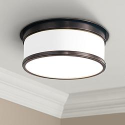 "Hudson Valley Geneva 12 1/4"" Wide Bronze Ceiling Light"
