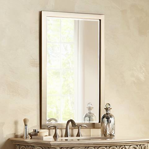 "Possini Euro Metzeo French Brass 22""x33"" Wall Mirror"