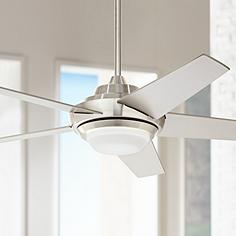 Contemporary ceiling fans fresh modern looks lamps plus 52 ascend brushed nickel led ceiling fan aloadofball Images