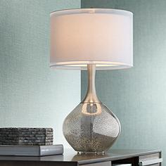 Silver table lamps lamps plus possini euro design swift modern mercury glass table lamp aloadofball Gallery