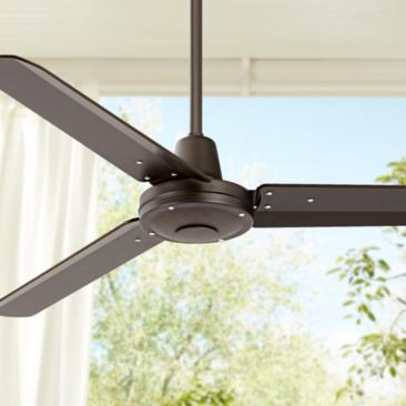 "52"" Plaza™ Oil-Rubbed Bronze Damp Rated Ceiling Fan"