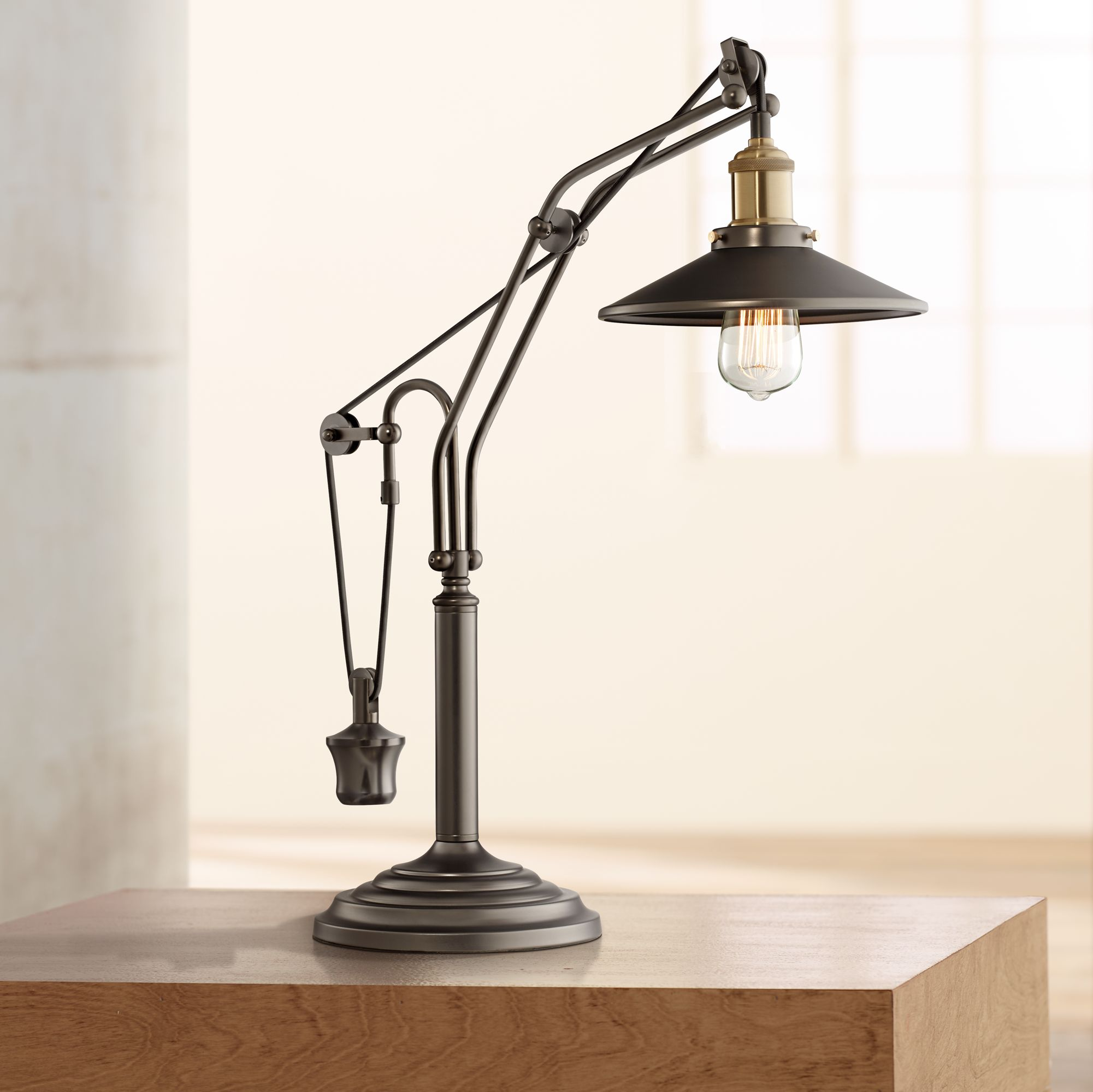 bronze rustic lodge desk lamps lamps plus rh lampsplus com antique bronze desk lamp bronze pharmacy desk lamp