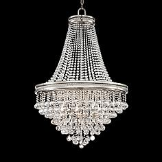 Vienna full spectrum entryway chandeliers lamps plus cherrie 29 wide large clear crystal chandelier aloadofball Image collections