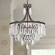Crystal chandeliers lamps plus luba 20 wide bronze crystal 4 light chandelier audiocablefo