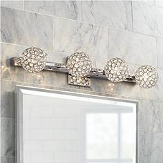 crystal 25 29 in wide bathroom lighting lamps plus