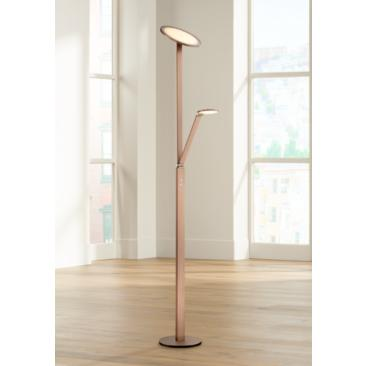Possini Euro Magnum French Bronze LED Torchiere Floor Lamp
