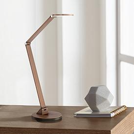 Possini Euro Magnum French Bronze Led Desk Lamp