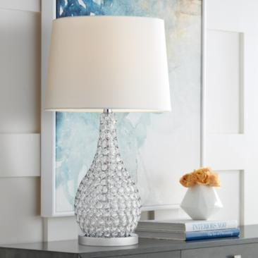 Possini Euro Kasey Beaded Gourd Table Lamp