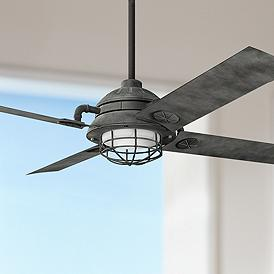 65 Kichler Maor Led Weathered Zinc Ceiling Fan