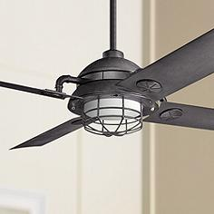 4 blade industrial ceiling fans lamps plus 65 kichler maor led distressed black ceiling fan aloadofball