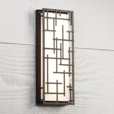 "Modern Lines 16 1/4"" High Bronze LED Outdoor Wall Light"