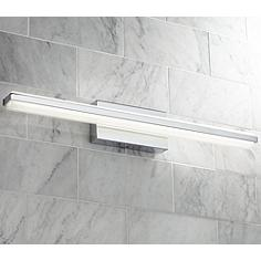Led bathroom lighting led vanity lights and light bars lamps plus possini euro eloe chrome 31 14 wide linear led bath light aloadofball Image collections