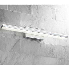 Possini Euro Eloe Chrome 31 1 4 Wide Linear Led Bath Light