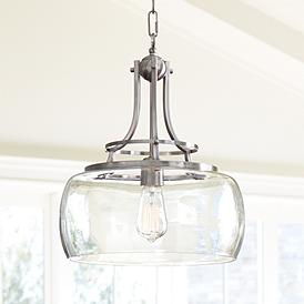 Charleston 13 1 2 Wide Brushed Nickel Led Pendant Light
