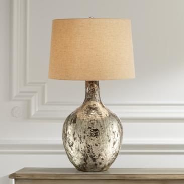 Possini Euro Shea Glass Urn Table Lamp