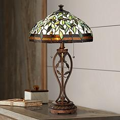View on sale items tiffany table lamps lamps plus blossoming leaf and vine bronze tiffany table lamp aloadofball Gallery