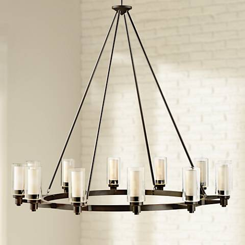 "Circolo Collection Olde Bronze 44 1/2"" Wide Chandelier"
