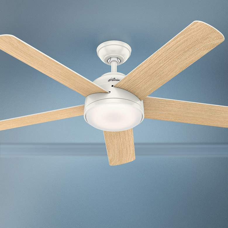 "54"" Hunter Romulus Fresh White LED Ceiling Fan"