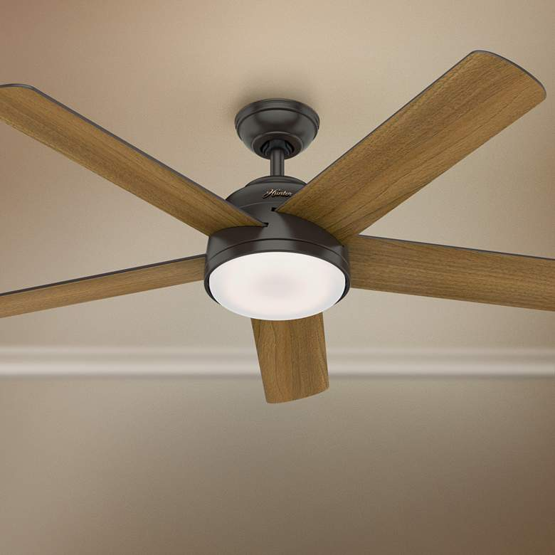 "54"" Hunter Romulus Noble Bronze LED Ceiling Fan"