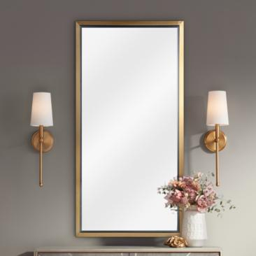 "Classics Natural Brass 24"" x 48"" Wall Mirror"