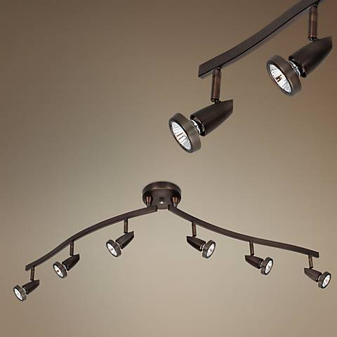 Mirage Bronze 6-Light Articulating Arms Track Fixture