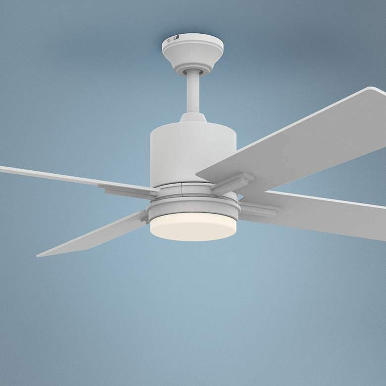 "52"" Craftmade Teana White LED Ceiling Fan"