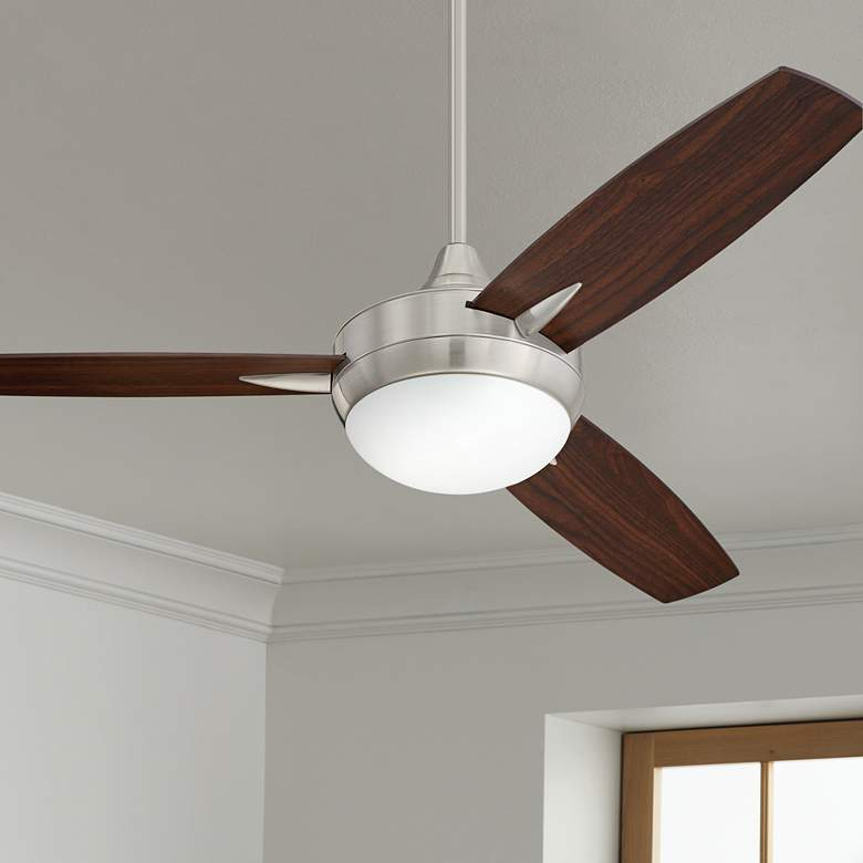 "48"" Craftmade Targas Brushed Polished Nickel LED Ceiling"