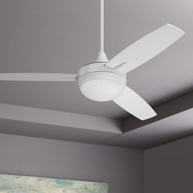 "48"" Craftmade Targas White LED Ceiling Fan"