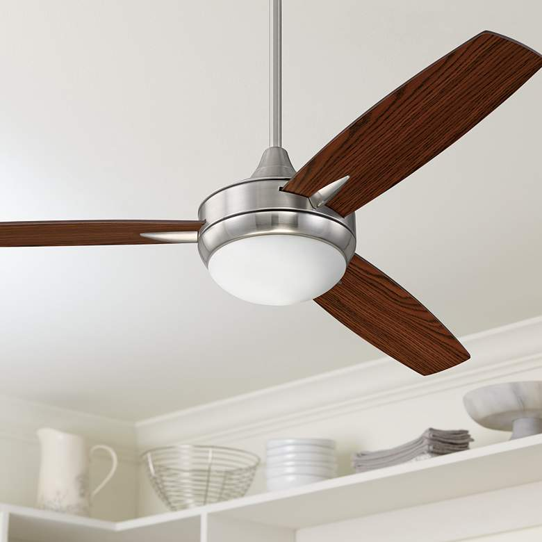 "52"" Craftmade Targas Brushed Polished Nickel LED Ceiling"