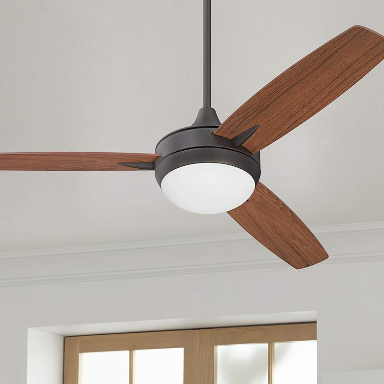 "52"" Craftmade Targas Espresso LED Ceiling Fan"