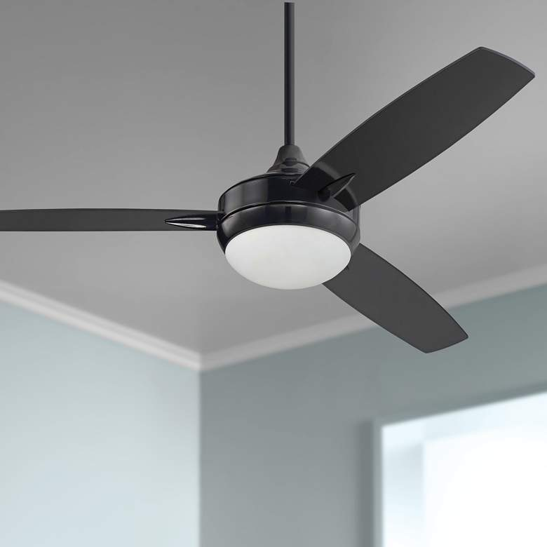 "52"" Craftmade Targas Gloss Black LED Ceiling Fan"