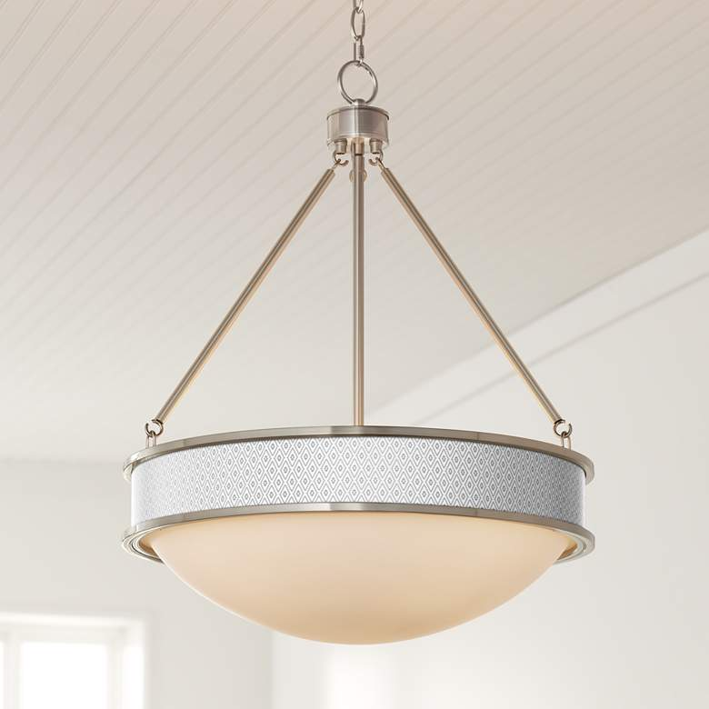 "Diamonds 20 1/2"" Wide Brushed Nickel Pendant Light"