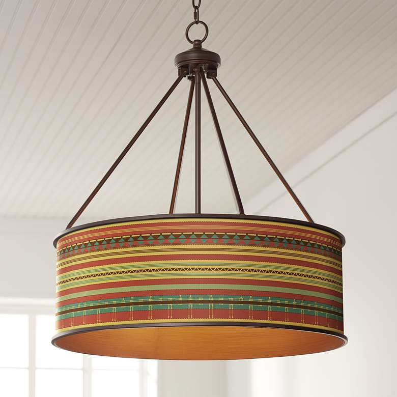 "Southwest Desert Yulie 24 3/4"" Wide Bronze Pendant Light"