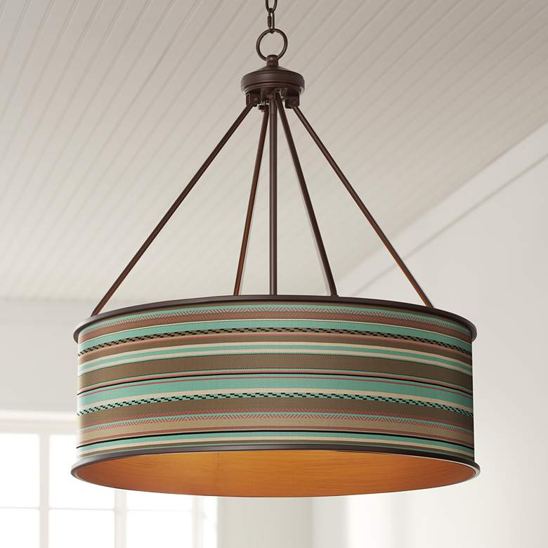 "Southwest Shore Yulie 24 3/4"" Wide Bronze Pendant Light"