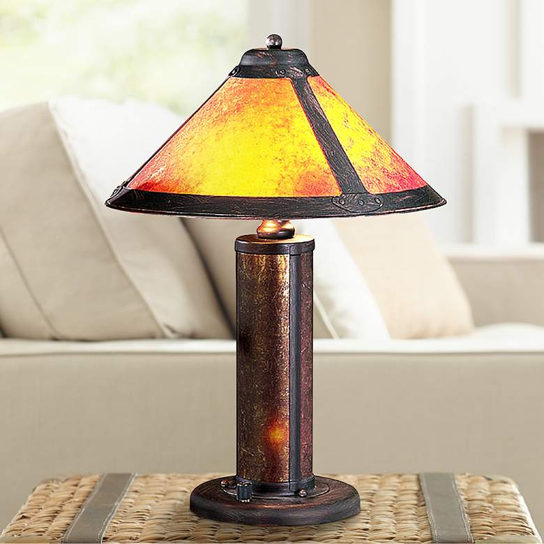 Mica Mission Accent Table Lamp with Night Light