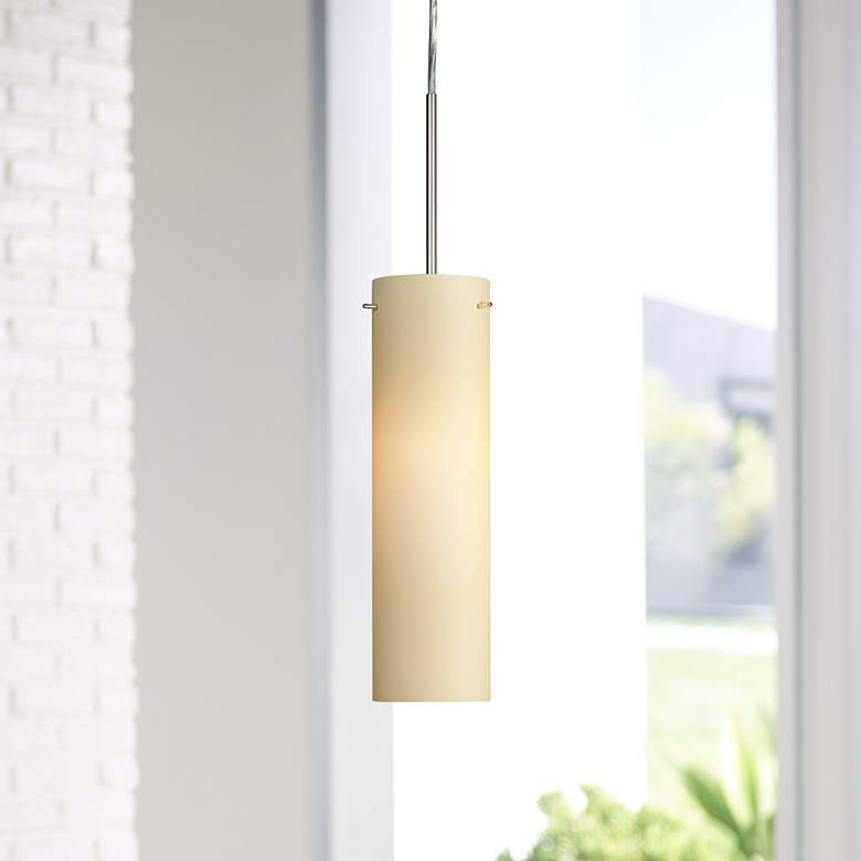 "Soho 5"" Wide Satin Nickel LED Mini Pendant"