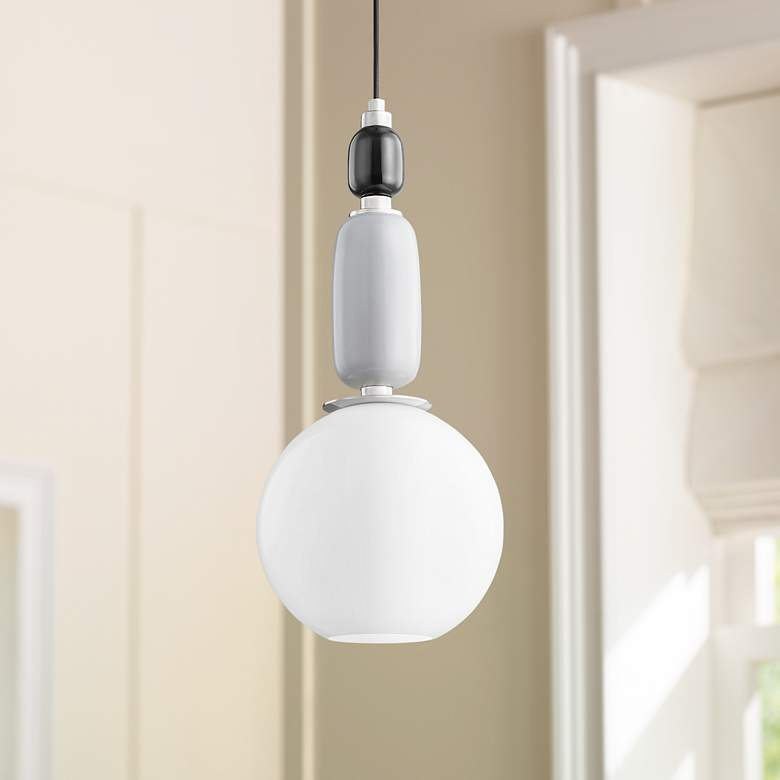 "Mitzi Camila 10 3/4"" Wide Polished Nickel Mini Pendant Light"