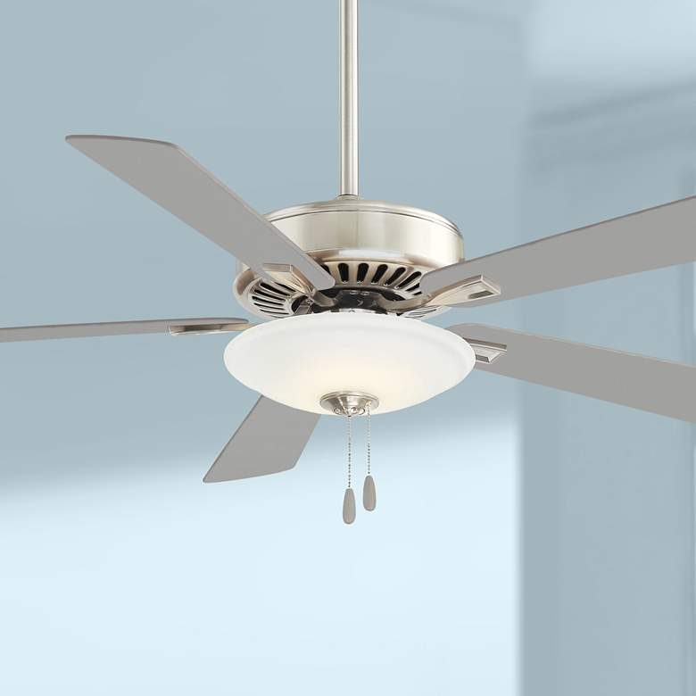 "52"" Minka Aire Uni-Pack Polished Nickel LED Ceiling"